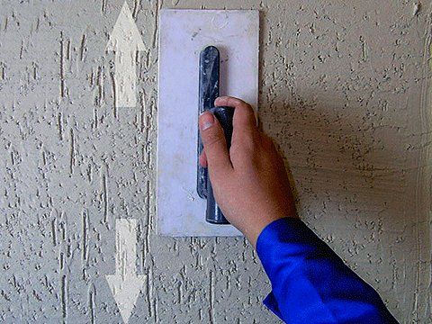 Нанесение декоративной штукатурки короед своими руками