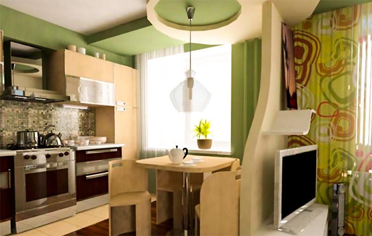 Дизайн маленькая кухня маленькая гостиная